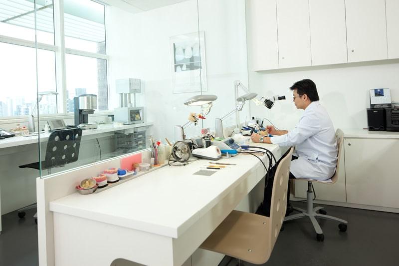 T32 Dental Technician at work