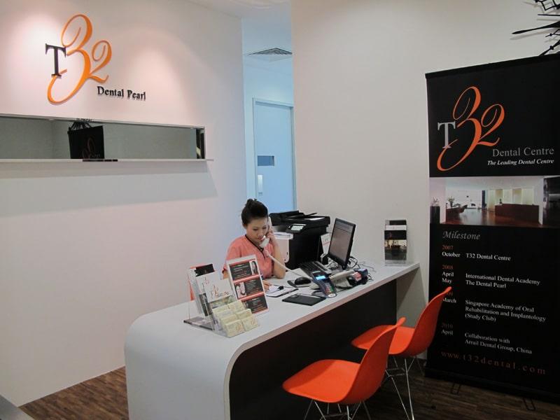 T32 Dental Pearl Jurong - Reception Area