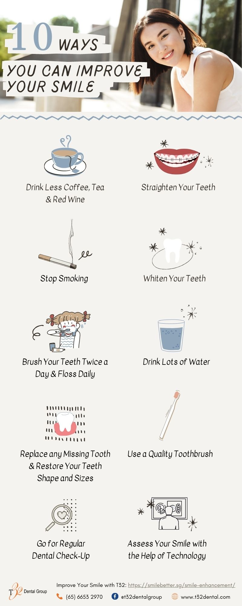 Infographic - 10 Ways You Can Improve Your Smile